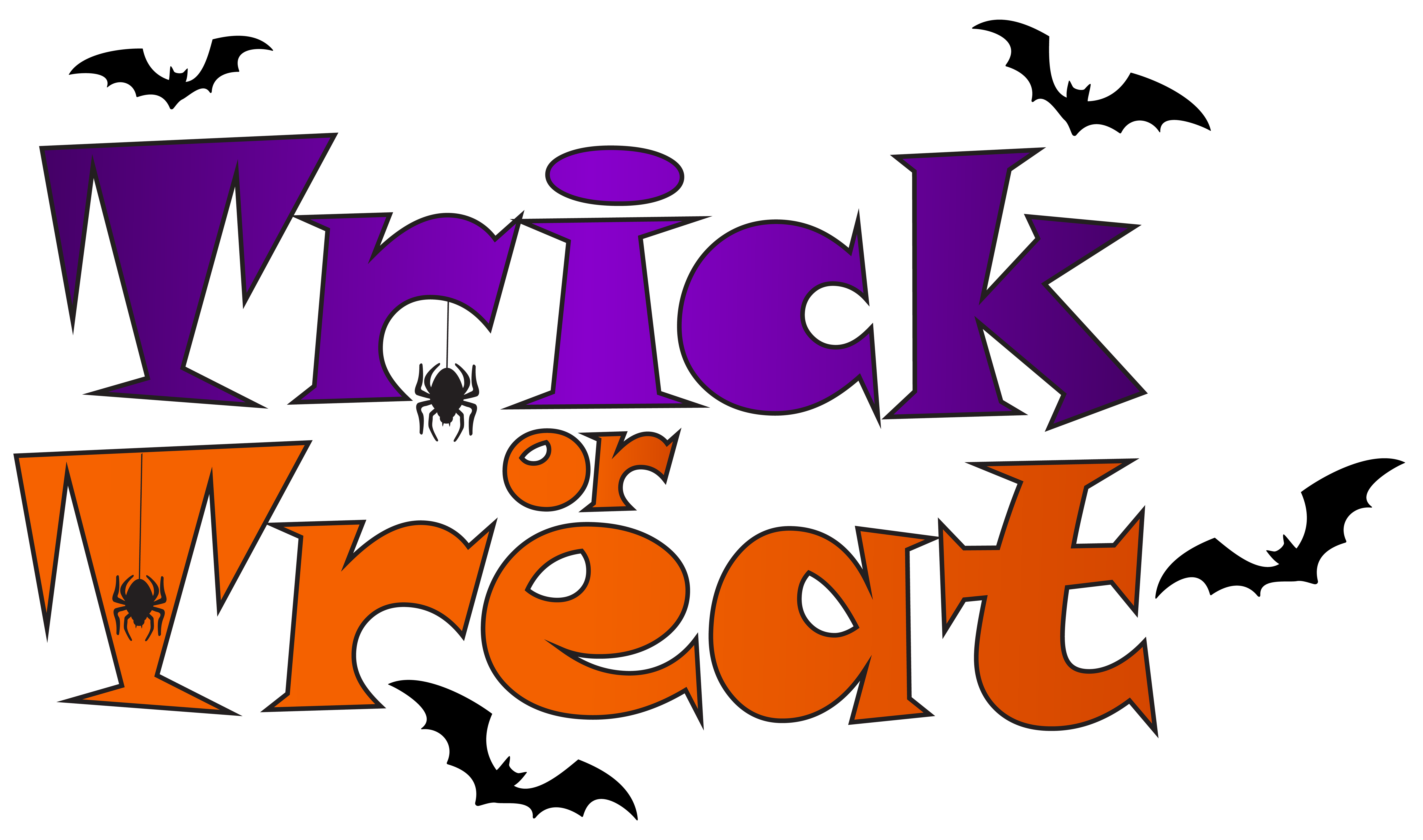 banner download Trick or treat clipart. Png clip art gallery