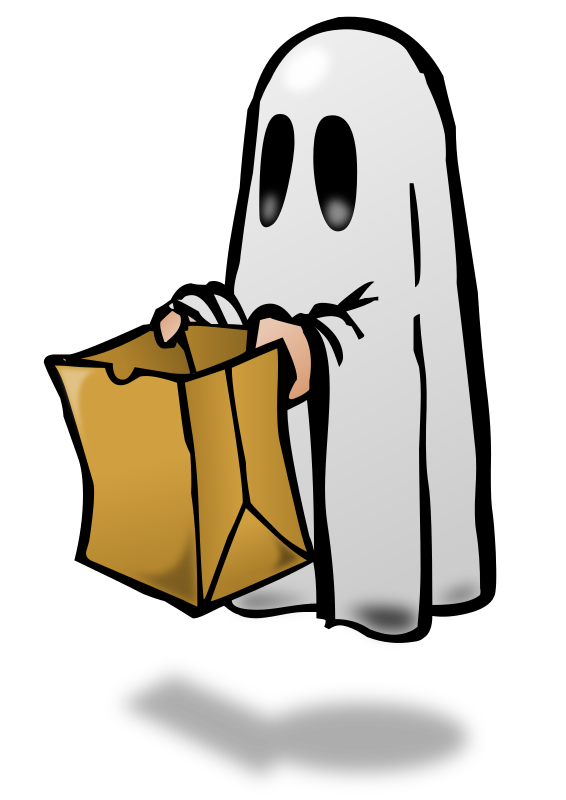 banner transparent stock Trick or treat clipart. Gone free on dumielauxepices