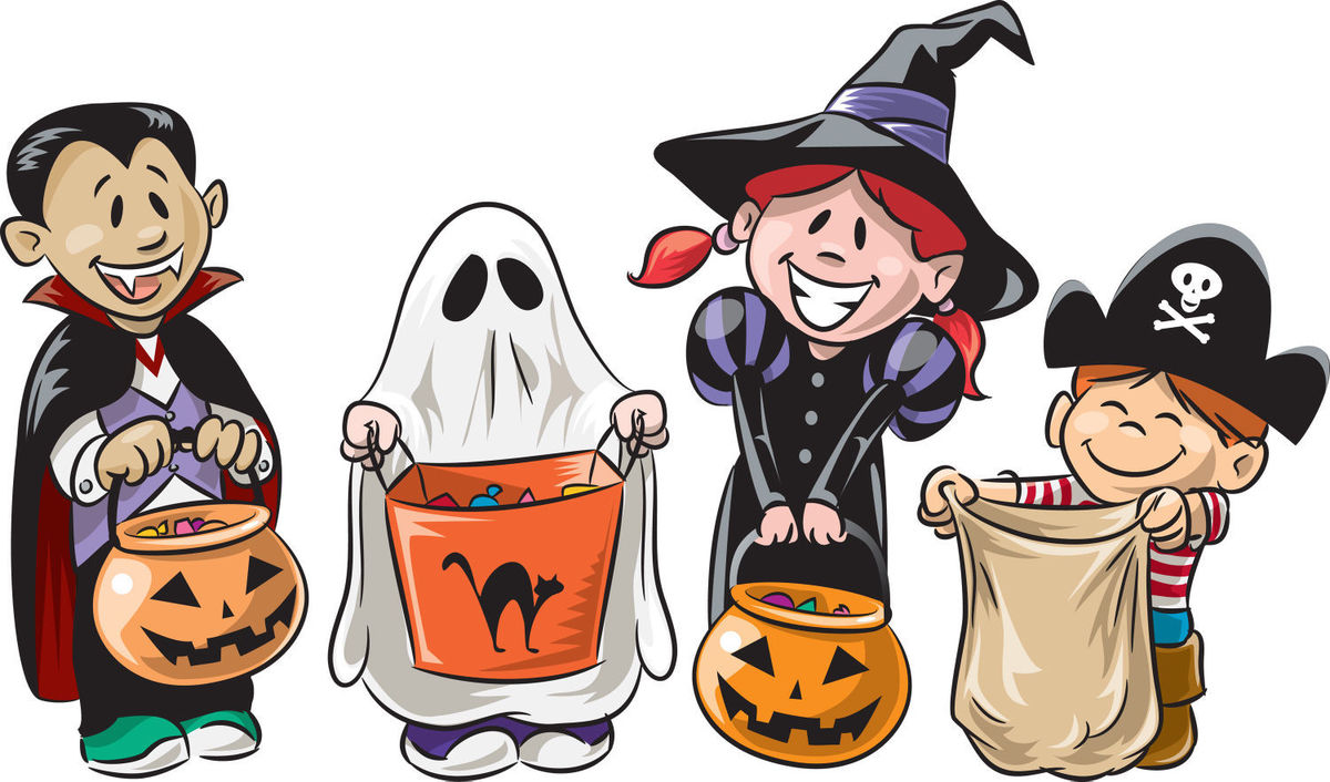 picture library library  clipartlook. Trick or treat clipart downtown