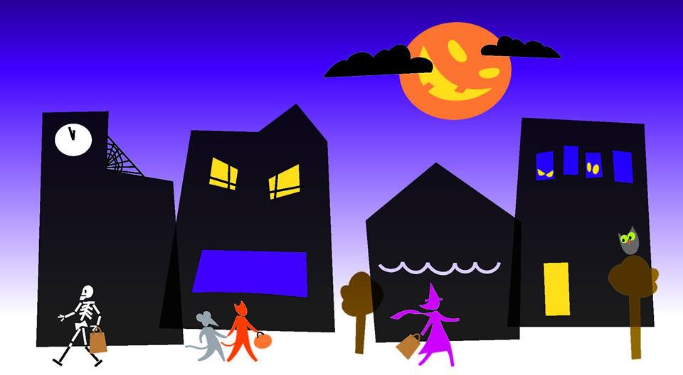banner freeuse library Trick or treat clipart downtown. X free clip art