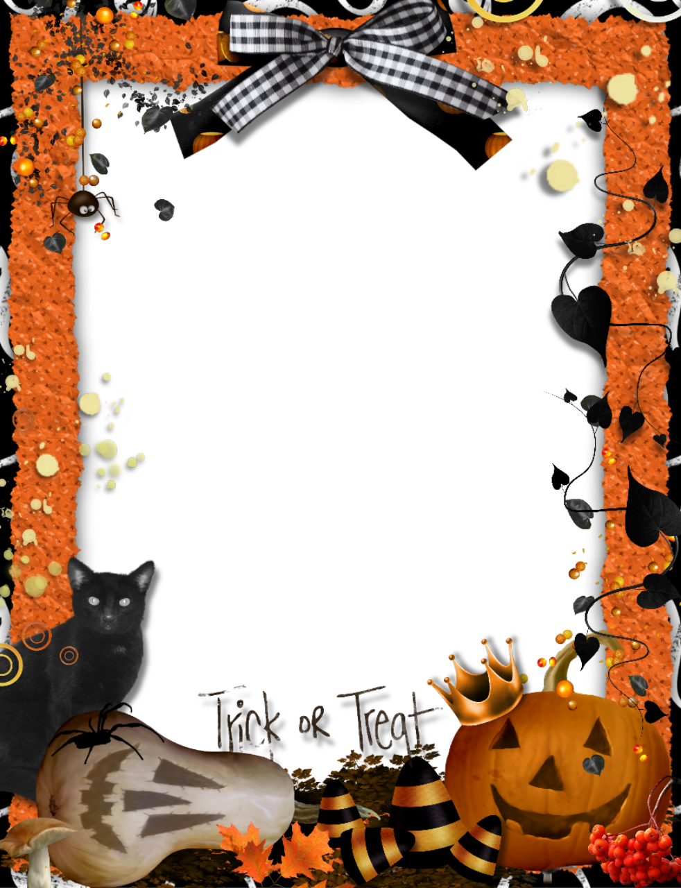 image Frames and trick or. Halloween clipart borders