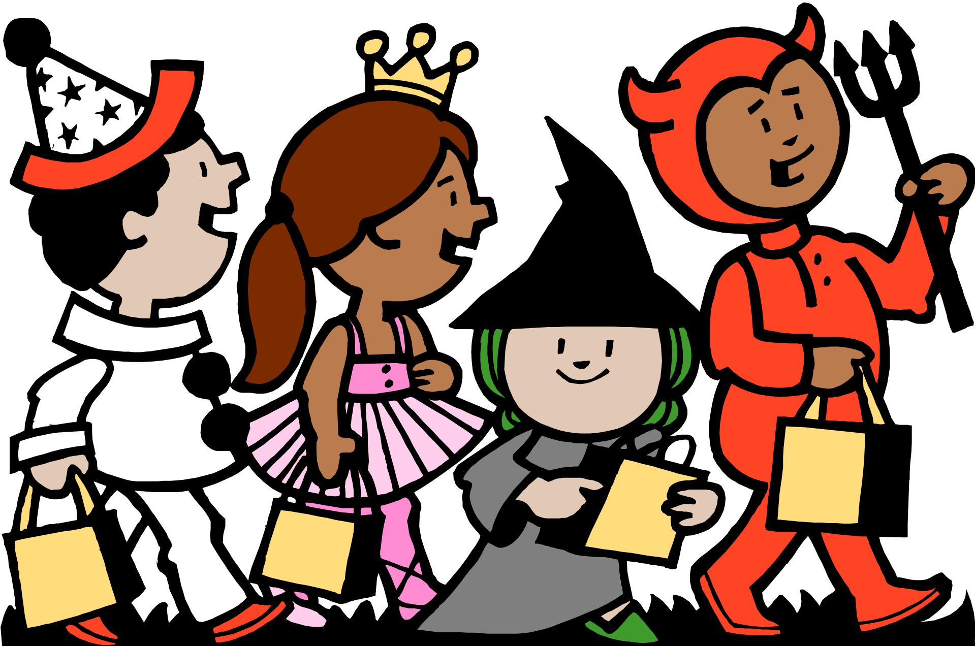 clipart freeuse download Best treat clipartion com. Kids trick or treating clipart