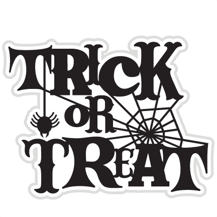 graphic black and white download Tricks or treats trick or treat word clipart free clip art images