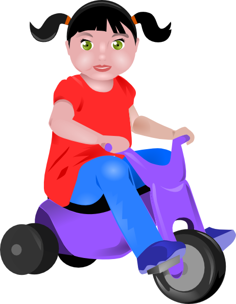 graphic stock Toddler on clip art. Tricycle clipart