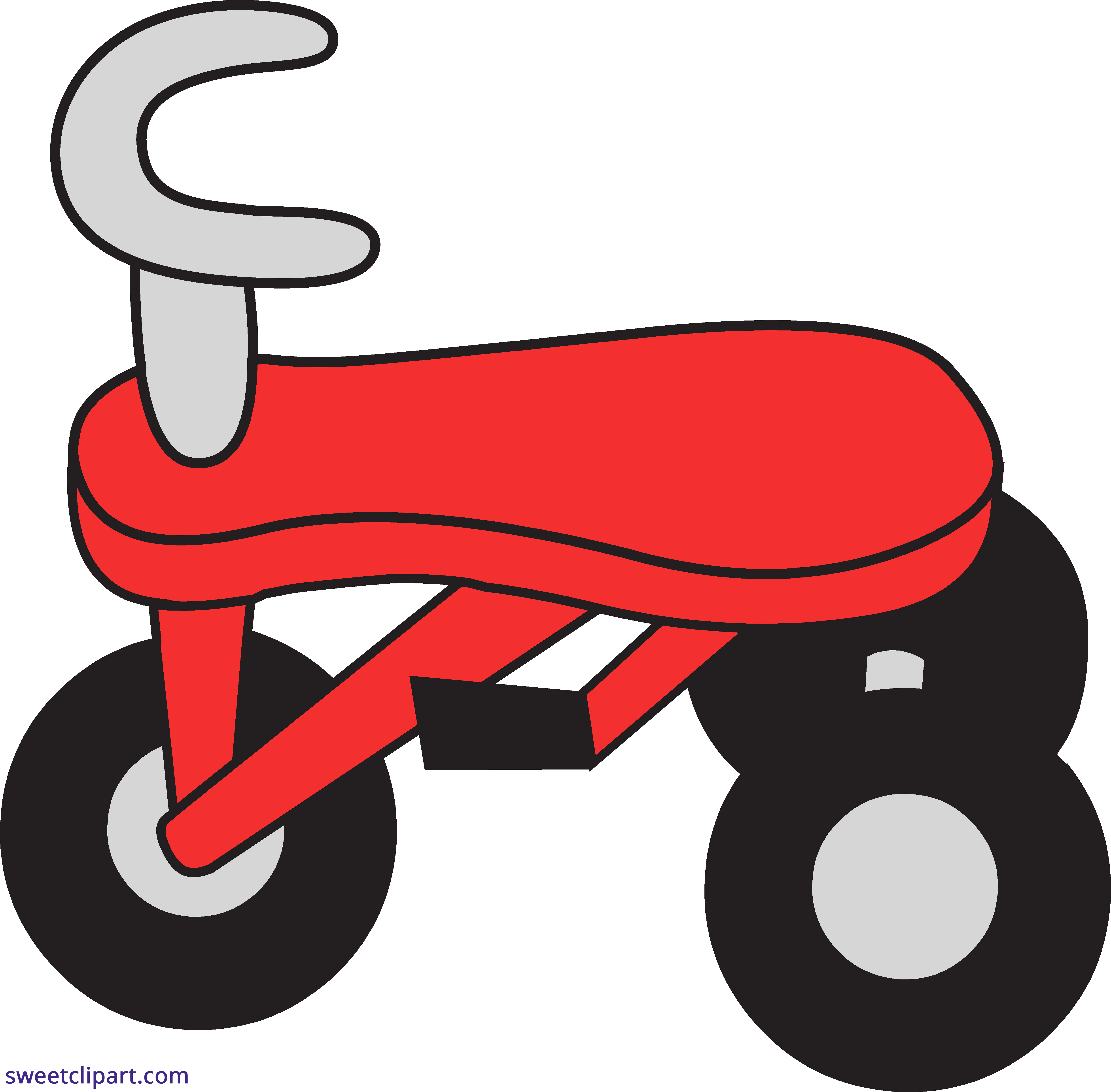 image transparent stock Tricycle clipart. Red sweet clip art