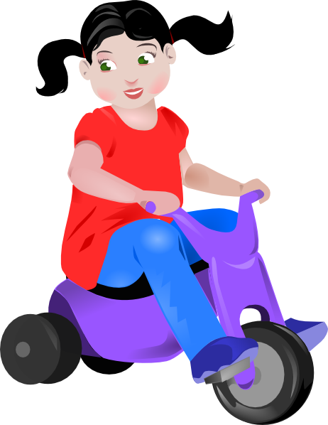vector library stock Toddler On Trike Clip Art at Clker