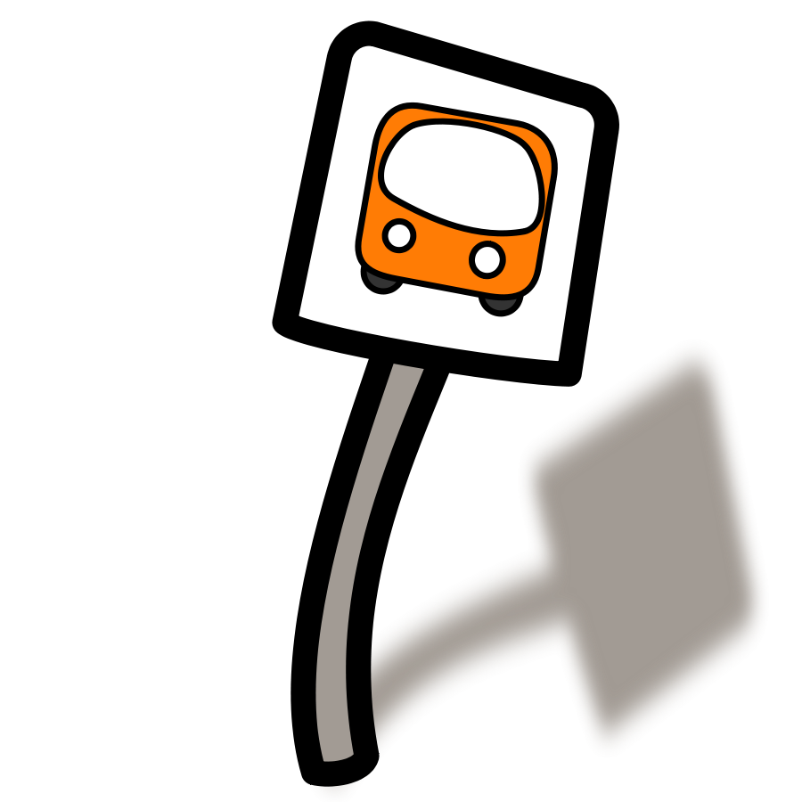 clip library download Sign bus free on. Trip clipart rest stop