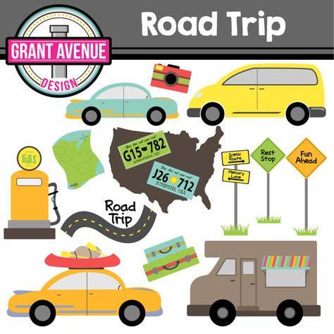 png free download Trip clipart rest stop. Road cute digital set