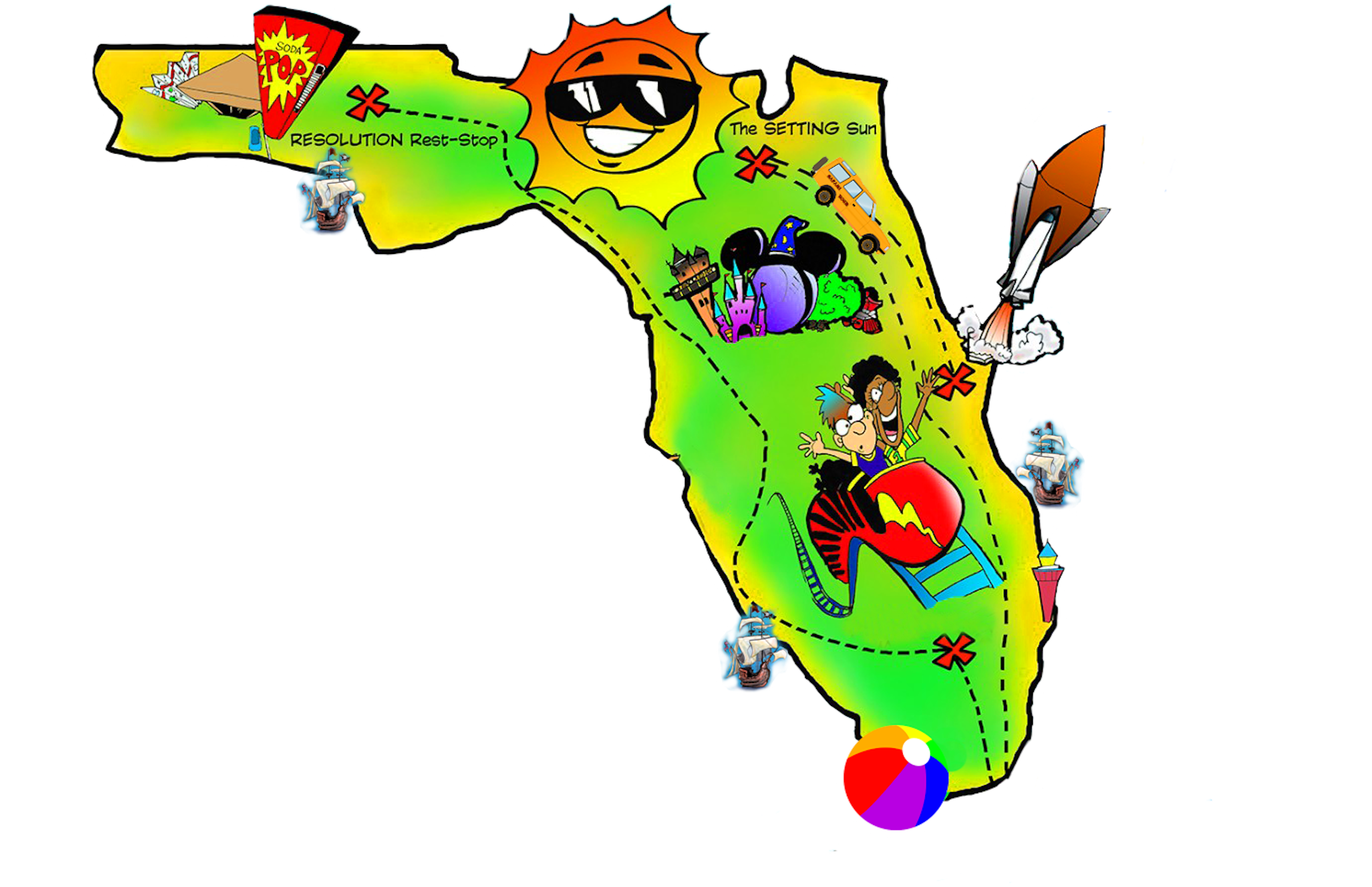 svg library stock Florida map free by. Trip clipart rest stop