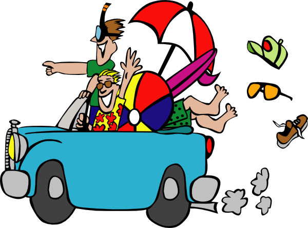 svg transparent library Funny Road Trip Clipart