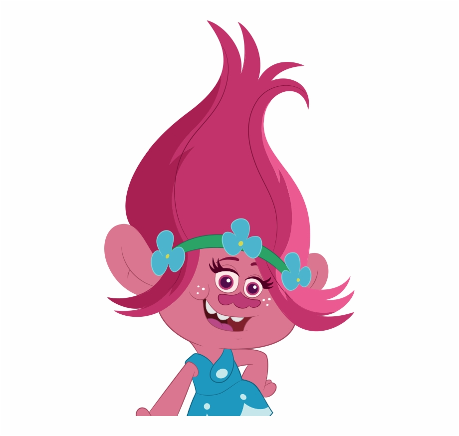 svg royalty free Poppy the beat goes. Trolls clipart.