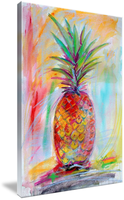 graphic royalty free download Aloha Pineapple Mixed Media Art Ginette