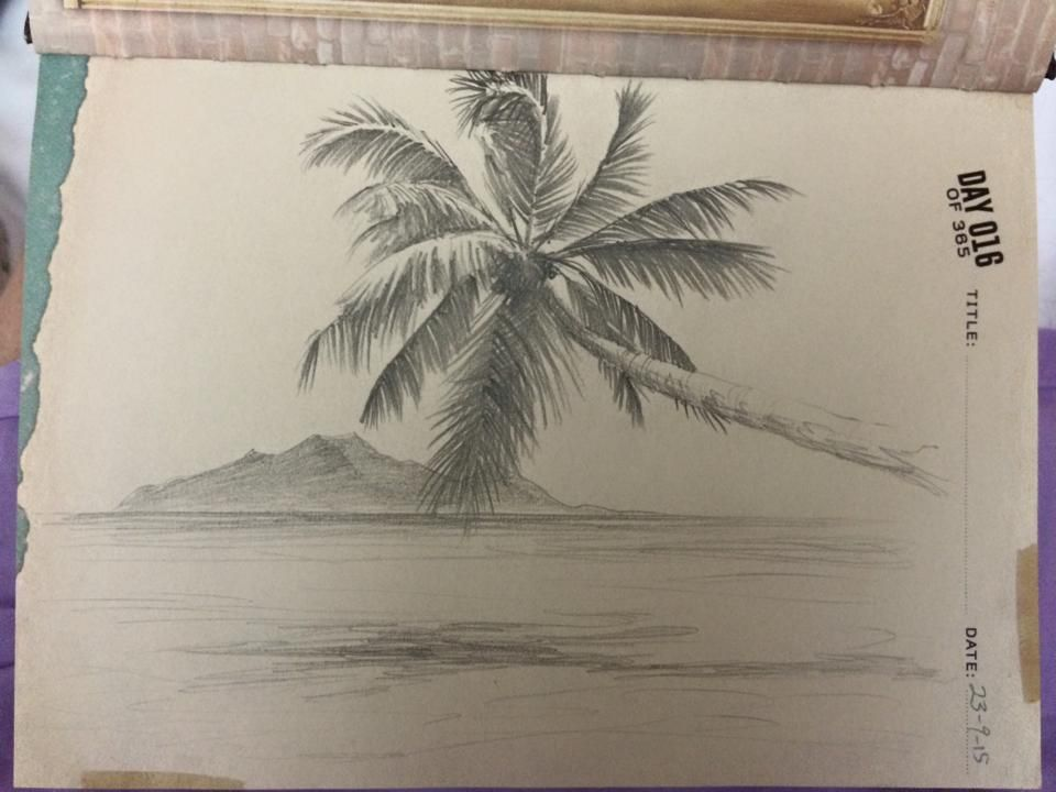 clip library stock Drawing island paradise. Day a challenge travel