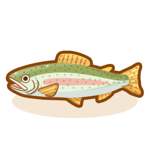 clip stock Hunt cook catch and. Trout clipart rainbow trout