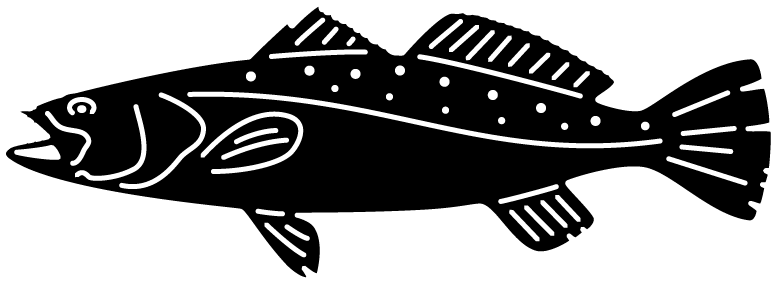 picture black and white library Bass svg plasma cut. Fish speckled trout dxf