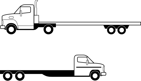 freeuse Flatbed Trailer Clipart