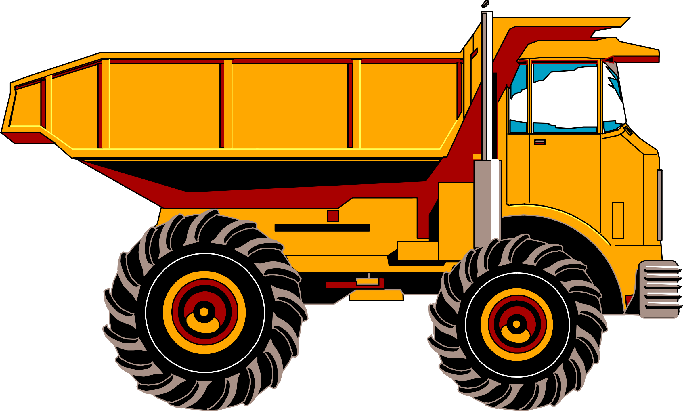 png black and white stock Torex dump big image. Construction truck clipart.