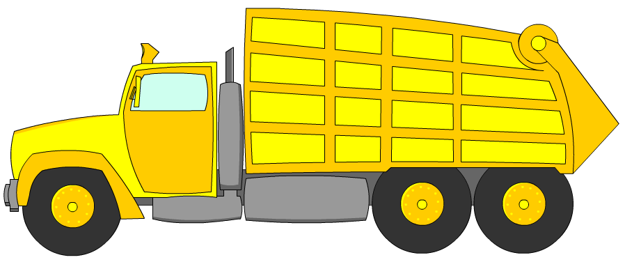 banner free Garbage yellow letters format. Truck clipart rubbish