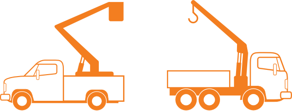 royalty free stock Trucks With Crane Clip Art at Clker