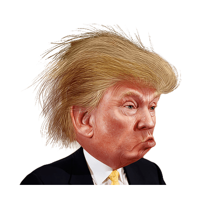 graphic black and white library clipart of donald trump #68063867