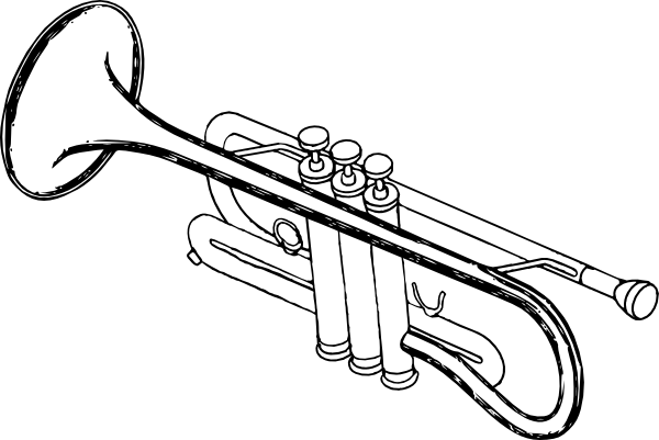 clipart library download Trumpet player clip art. Vector bands instruments