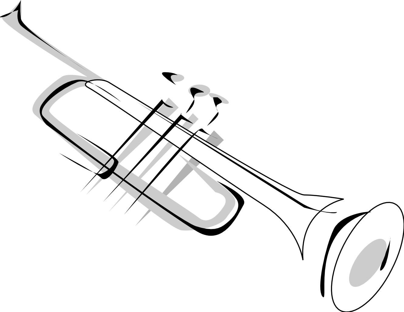 png free library Trumpet clipart brass instrument. Simple tattoo design tattoos
