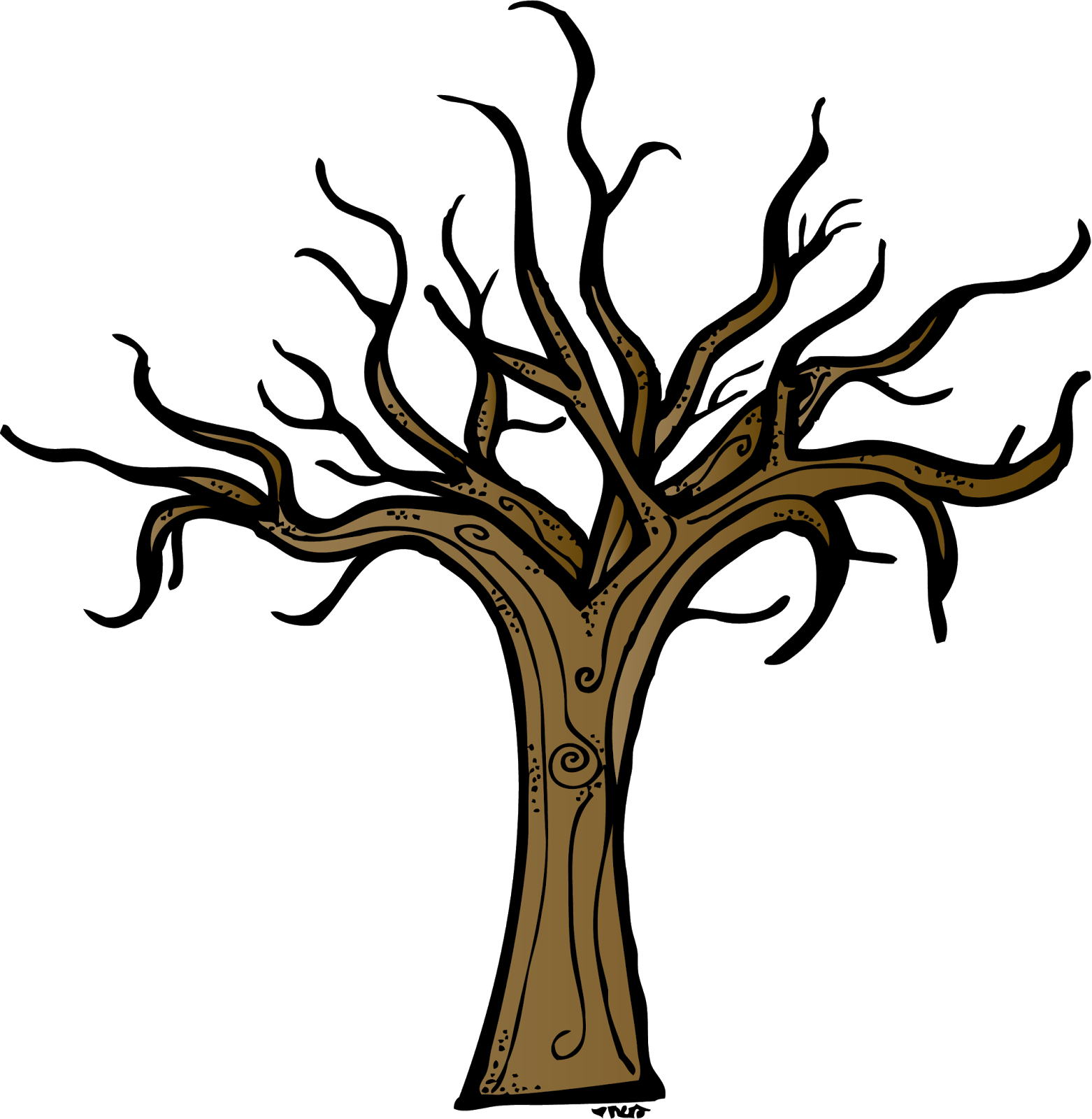 jpg library stock Trunk dry tree pencil. Bare clipart
