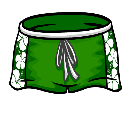 clipart download Trunk clipart man shorts. Image green hawaiian png