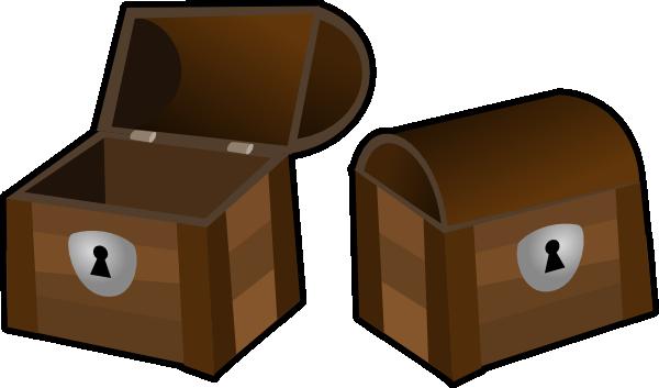 vector free stock Trunk Clipart empty treasure chest
