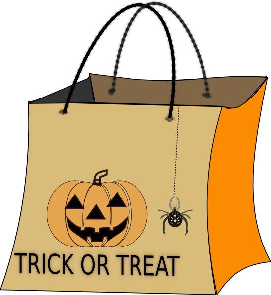 picture black and white library Trick Or Treat Clipart Black And White