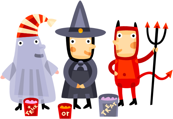 jpg transparent Treat png images transparent. Kids trick or treating clipart