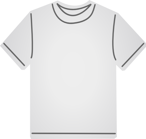 clip free White T Shirt Clip Art at Clker