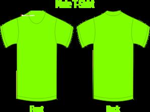 banner library stock Green t clip art. Tshirt clipart neon shirt