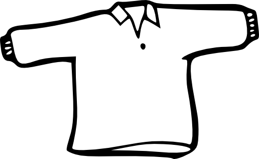 clipart transparent library Shirt Outline Clipart