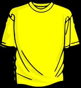 clipart transparent download Clothes vector blouse. Yellow t shirt clip