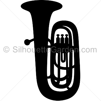 banner library download Silhouette clip art download. Tuba clipart