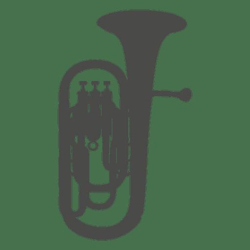 clip art freeuse download Saxhorn baritone silhouette