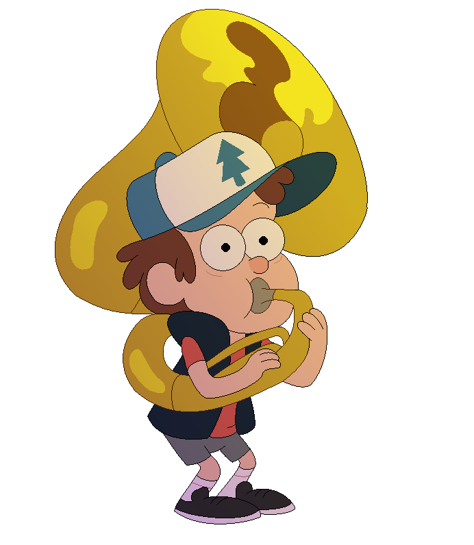 png transparent library Gravity falls dipper playing. Tuba clipart tuba player