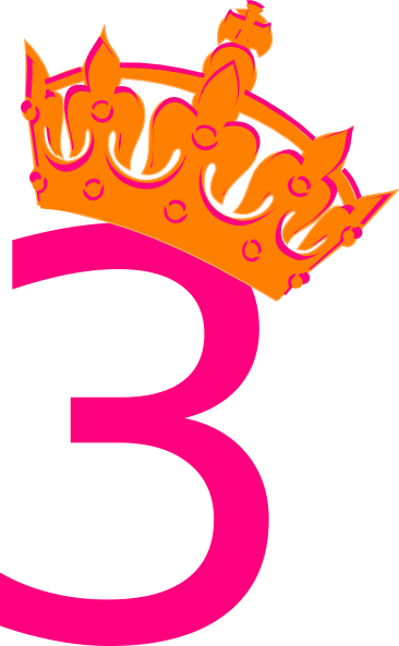 vector library library Pink Tilted Tiara And Number