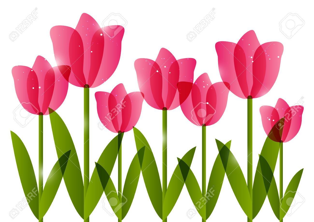 banner stock Tulip border clipart. Free download best