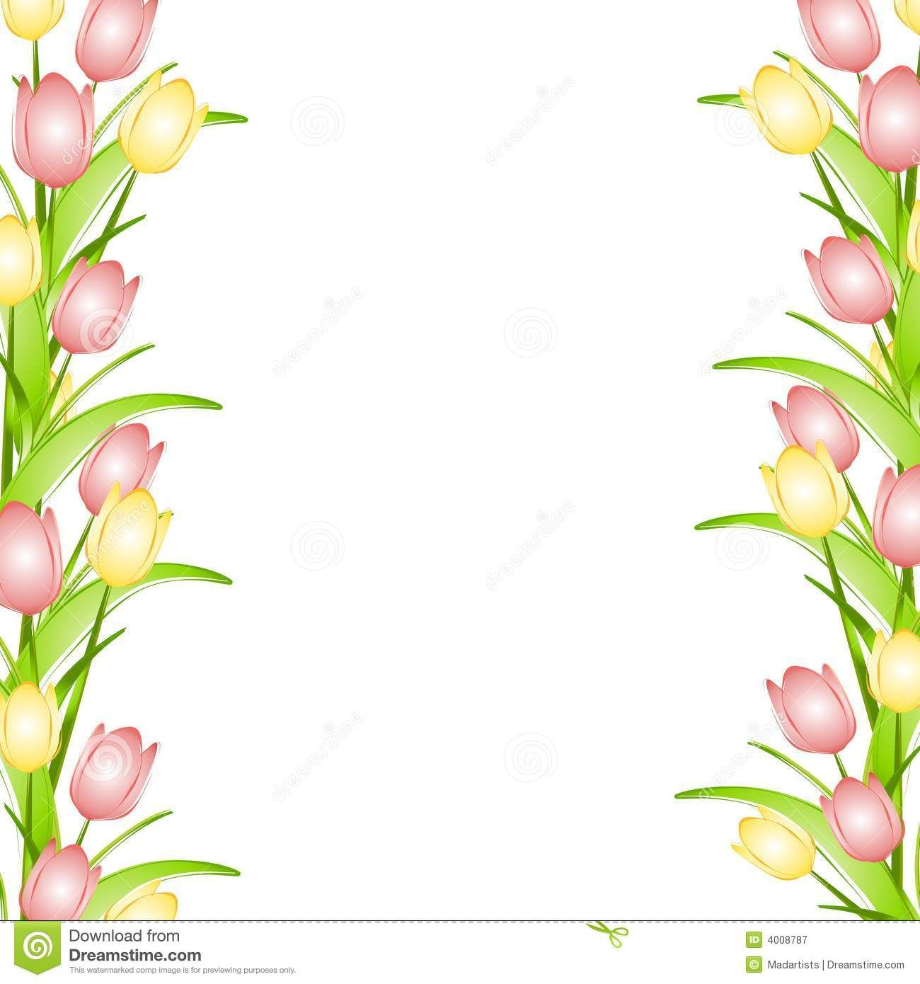 picture library Tulip border clipart. Pink flower clip art