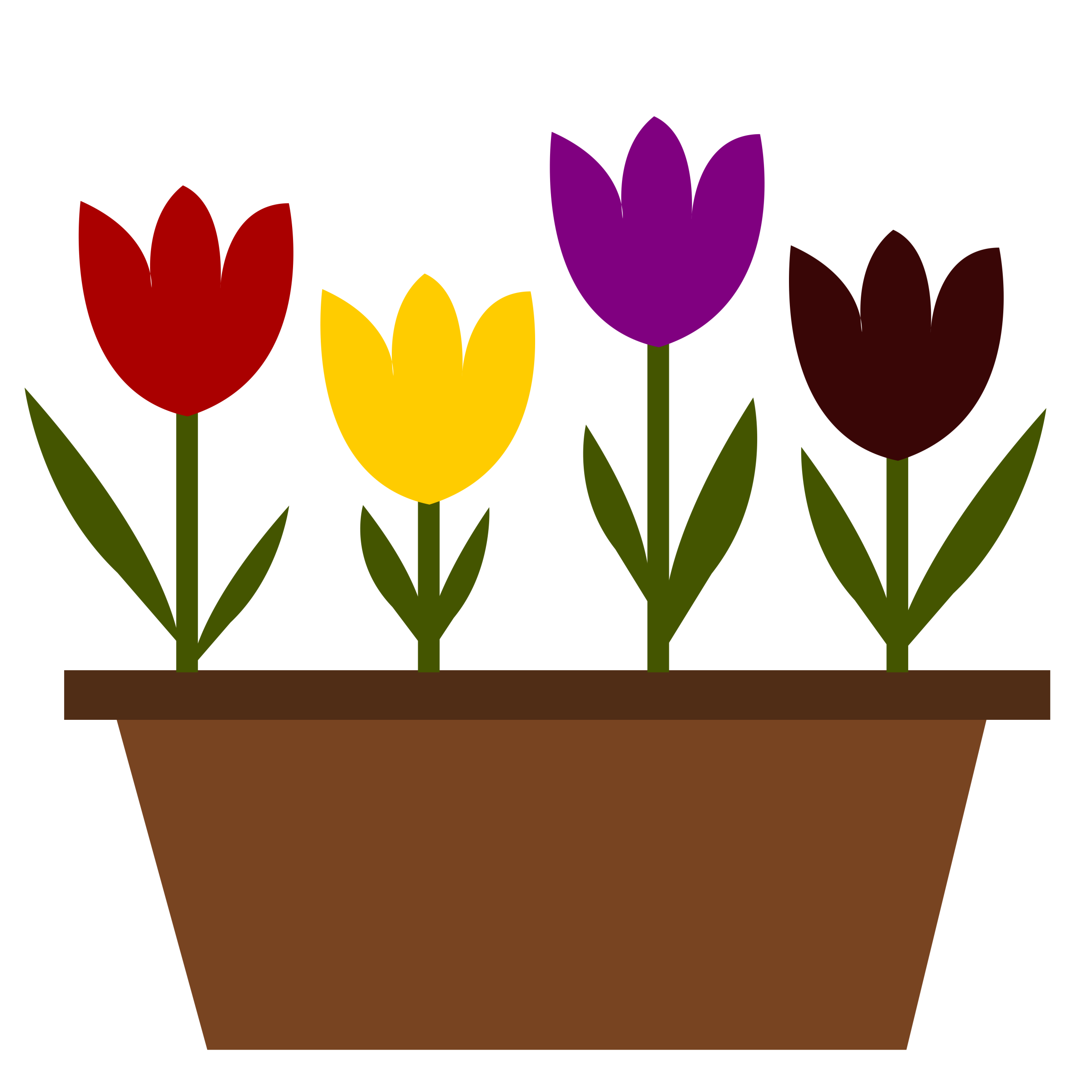 image black and white stock Tulips clipart. In a pot just.