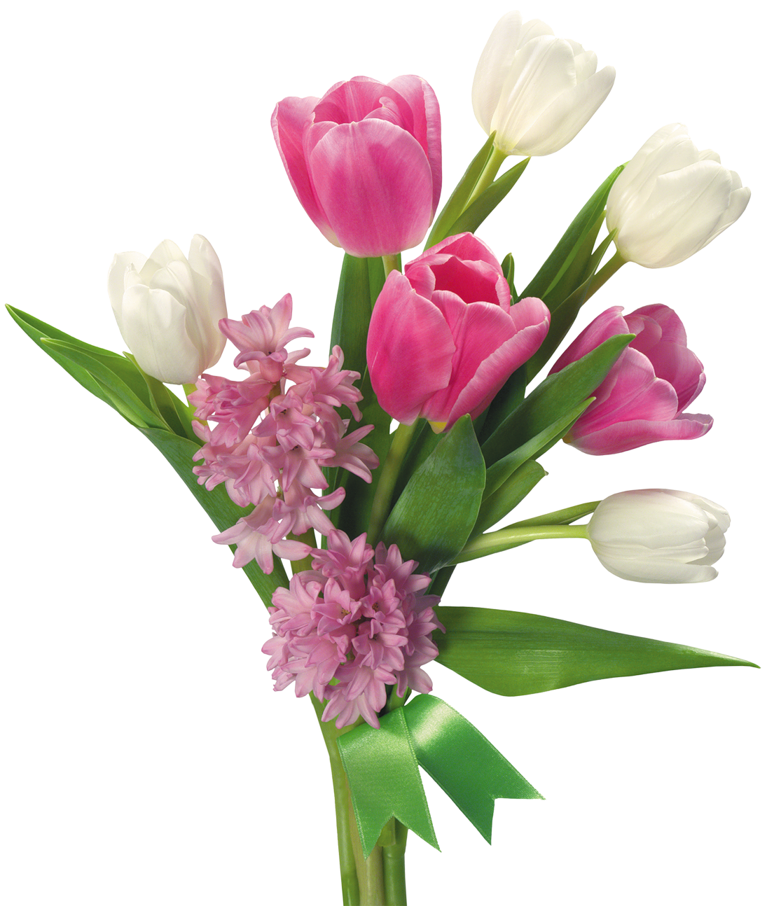 transparent download Spring Bouquet of Tulips and Hyacinths PNG Transparent Picture