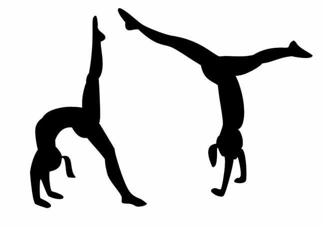 image royalty free download Tumbling clipart. Gymnastics backgrounds clipartfest .