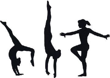 svg library Clip art dance and. Tumbling clipart.