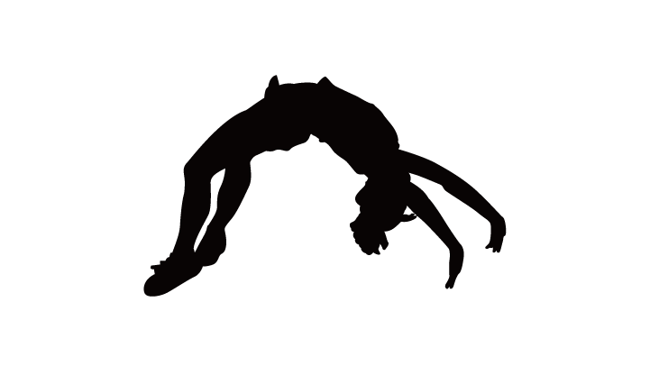 png royalty free download Gymnastics silhouette clip art. Tumbling clipart.