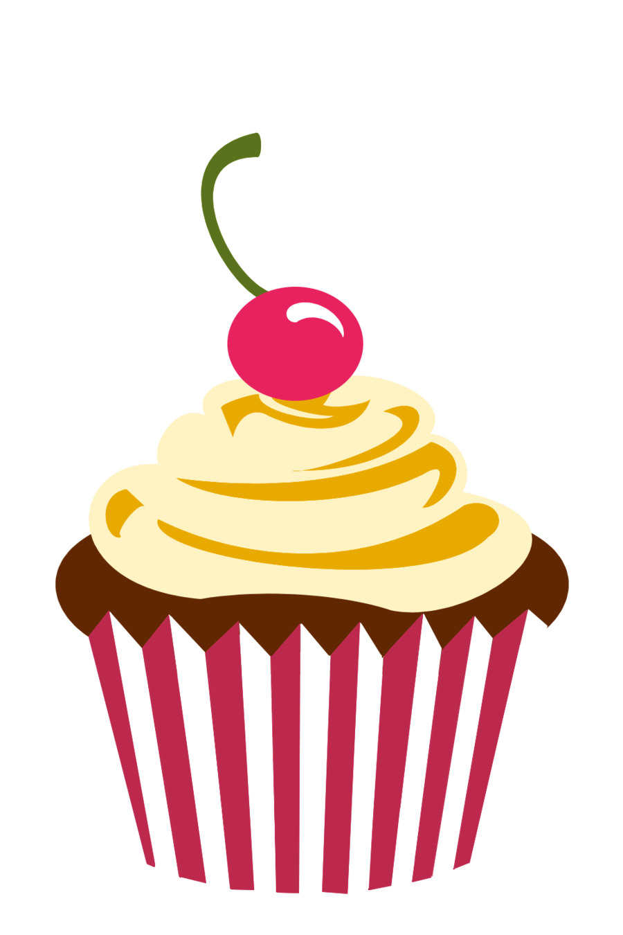svg black and white library Cupcake Logo Png Cherry chocolate cupcake by