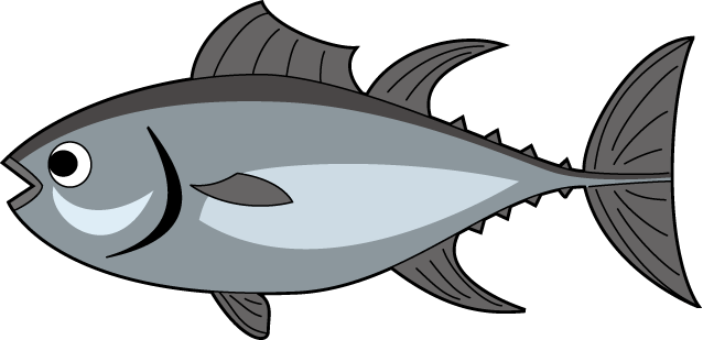 vector free library Tuna Free Clipart