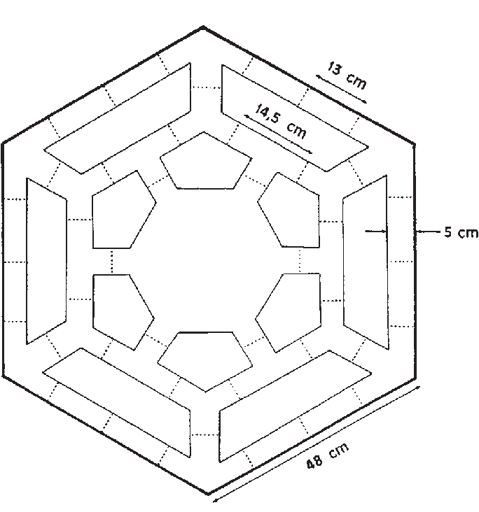 picture black and white stock Diagrammatic representation of the hexagonal tunnel maze
