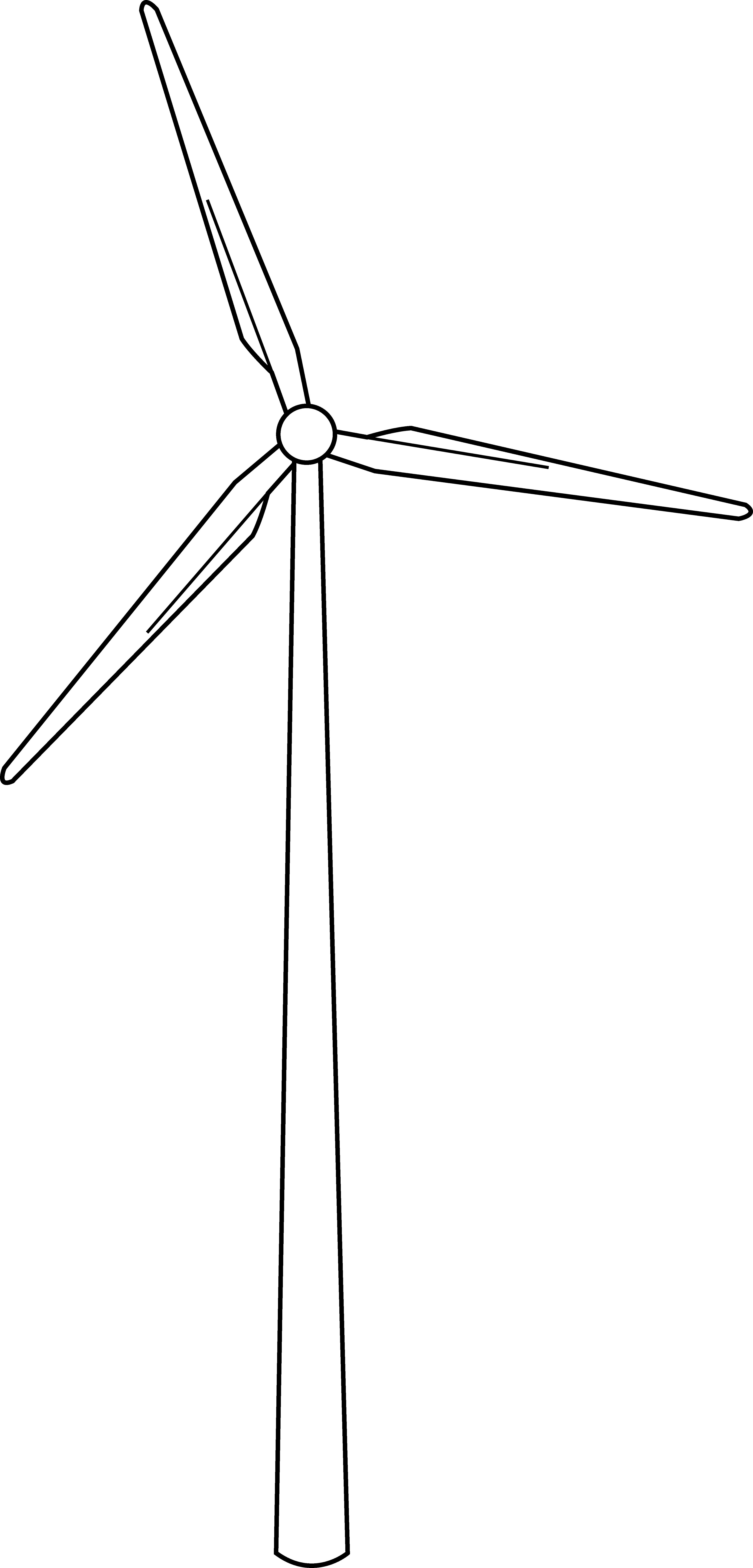 clipart library Wind Turbine Line Art